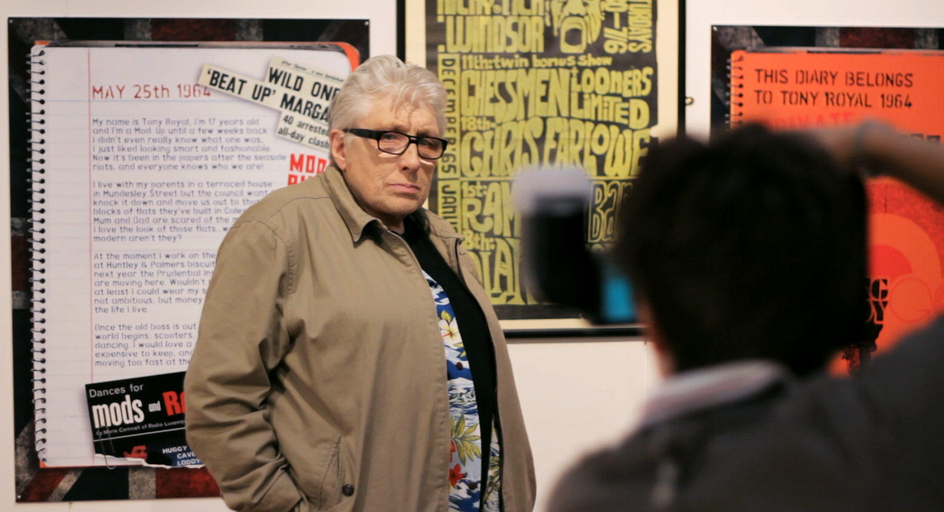 Chris Farlowe Having his Picture Taken by a Local Press Photogragher in Reading